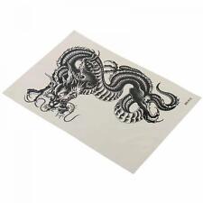 Body Art Black Waterproof Dragon Temporary Tattoo Sticker