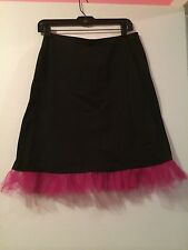 Black Skirt With Hot Pink Tulle Size S/M