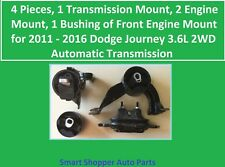 4 Pieces Engine & Transmission Mount Bushing for 2011-2016 Dodge Journey 3.6L 2W