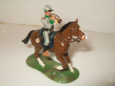 Little Legion ACW Mounted Confederate Bugler Sounds the Charge 1:32 scale (54mm)