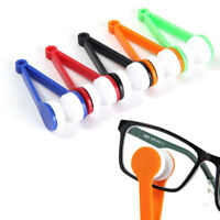 5 Mini Sun Glasses Eyeglass Microfiber Spectacles-Cleaner Brush Cleaning Tool