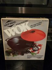 NEW IN BOX 1988 West Bend 6 Quart Electric Wok model 79525X