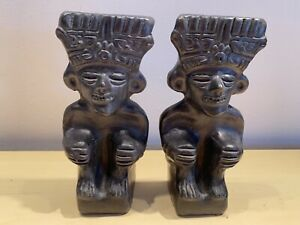 Unique Design Epay? Wood Wooden Bookends African Asian Tiki Style Black