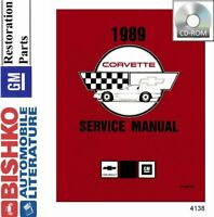 Bishko OEM Digital Repair Maintenance Shop Manual CD for Chevrolet Corvette 1989