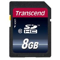 Transcend 8GB SDHC Class 10 Speicher Karte 8 GB 20 MB/s TS8GSDHC10