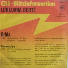 """7"""" 1977 CBS fulmine PROMO RARE MINT -! LOREDANA BERTE grida"""