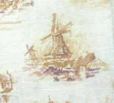 "Vintage Full Feed Sack Wind Mills, Towns, Lanscapes 50"" x 36"""