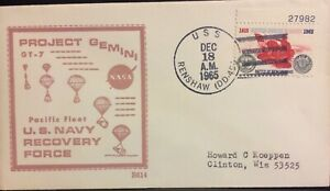 NAVAL SPACE BECK COVER #614 ONBOARD GT-7 TASK FORCE SHIP USS RENSHAW(DD-499)