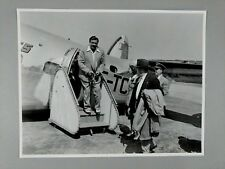 1950-60's BABE RUTH VISITS MONTREAL TRANS CANADA AIRLINE PHOTO 11X14 in.