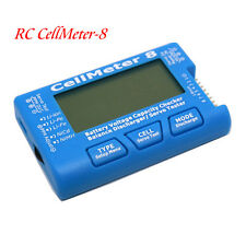 RC CellMeter - 8 1-8S LiPo Li-lon NiMH Battery Capacity Voltage Checker Meter