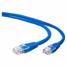 25FT CAT6 RJ45 23AWG UTP Twist Pair Solid Network Ethernet LAN Cable - Blue