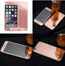 Front&Back Tempered Mirror Effect Glass Screen Protector Cover For iphone5 6S 7