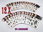 12 x Sheets Kids Adult Temporary Tattoos Stickers Party Favour Stocking Filler