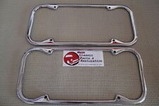 40-55 Chevy GM Ford Hot Rat Street Rod California Chrome License Plate Frames