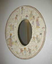 Child's antique French Sarreguemines Kate Greenaway Enfants Richard mirror