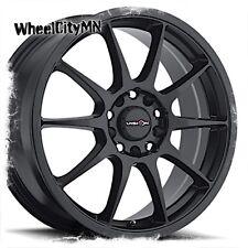 17 inch matte black Vision Bane 425 wheels rims Dodge Avenger Caliber 5x4.5 +38