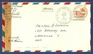 U.S. Army Postal Service APO709 Tulagi Island, Solomon Islands Cover 1943 Censor