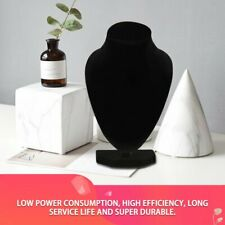 Black Mannequin Necklace Jewelry Pendant Display Stand Holder Show Decorate ZT