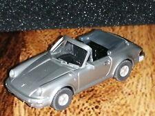 Wiking ( 162 / 1A ) - Porsche 911 Cabrio, silber - T@P