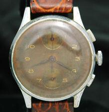 1940s BREITLING CHRONOGRAPH WATCH VTG RARE TROPIC COPPER PINK Ref.178 Venus 170