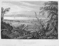 Illinois ROCK ISLAND CITY MISSISSIPPI RIVER QUAD CITIES 1855 Art Print Engraving
