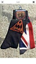 Def Leppard Crew Socks 2-pack 10-13 Pyromania Union Jack Design