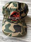 Vintage Jurassic Park The Lost World Movie Camo Snap Back Hat Cap 1997 Kids 90s