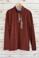 NWT Pro Tour - Heathered BURGUNDY long sleeve knit 1/4 zip pullover, size XL