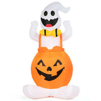 4.5' Inflatable Ghost in Pumpkin Halloween Blow Up Indoor& Outdoor Yard Light