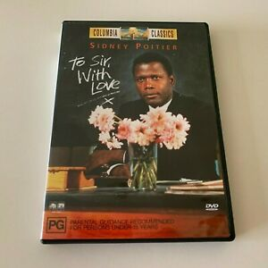 To Sir With Love DVD Region 4 - FREE POST