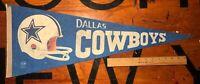 Vintage DALLAS COWBOYS Felt Pennant Two Bar Helmet NFL Football 1970's