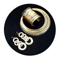 Halskette + Ohrringe + Armband Set Abend Kette Charms Necklace Choker L595