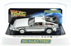 Scalextric Back To The Future DeLorean DPR W/ Lights 1/32 Scale Slot Car C4117