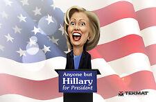 Hillary Clinton Anyone But Hillary For President Limited Edition Gun Mat