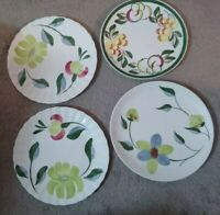 9 14 Blue Ridge PAPER ROSES Lunch Dish Pink Rose Flower Hand Painted COLONIAL Like Kibler/'s Rose With No Thorns B08 1900