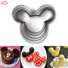 5pcs Stainless Steel Mickey Mouse Biscuit Pastry Cookie Cutter Cake Decor Mould