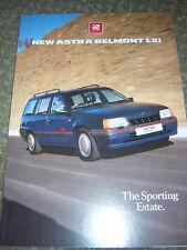 ORIGINAL VAUXHALL ASTRA BELMONT LXI SALES BROCHURE 1989