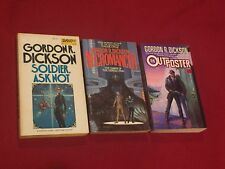 Lot of 3 Paperback Books by Gordon R. Dickson Dawn of Dorsai Era Soldier Ask Not