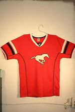 CALGARY STAMPEDERS CFL - RED JERSEY, SHORT SLEEVE - ADULT MALE VARIOUS SIZES