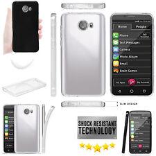 for GreatCall Jitterbug Smart2 Slim TPU GelFlex Clear Case Air Cushion Drop Skin
