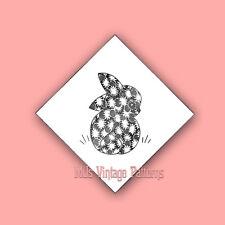 Vintage Animal Applique Quilt Pattern ~ Bunny & Chick