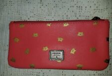 Fossil Leather Paige Zip Pouch NWT