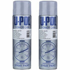 2 x U-Pol Powercan Silver Alloy Wheel Spray Paint Aerosol Top Coat Body 500ml