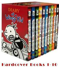 Diary of a Wimpy Kid Series by Jeff Kinney BOXED SET Hardcover Books 1-10