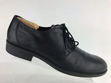 c5dc6202ed4d Ecco Harold Plain Toe Black Leather Walking Shoes Tie Lace Men s EU 47 US 13
