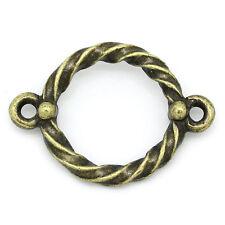 10 Antique Bronze Metal Rope Twist Link Connector Charm Pendants CHB0186