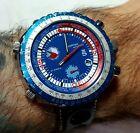 Sorna World Timer Wristwatch, sport watches, 70's watches, vintage watches