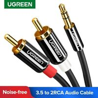 Ugreen RCA Audio Cable 3.5mm Stereo to 2 RCA Phono Y Splitter Cable For Speaker