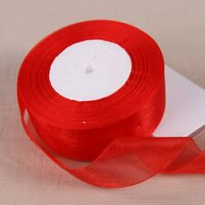 10Rolls X 50Yards Red Organza Ribbon 15mm