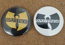 Wu Tang Clan Pin Back Badge twin pack yellow  on black  and black on white